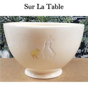 Sur La Table Rabbit & Chick Easter Bowl